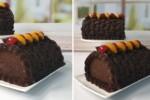 Chocolate Ganache Roll Cake